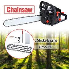 """Samger 62Cc 20""""Bar Chainsaw Gasoline Powered Cutting Wood Gas Chain Saw 2-Stroke"""