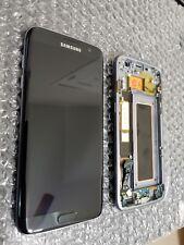 Mint Samsung Galaxy S7 Edge G935A G935V LCD Digitizer Frame Black Onyx Light SBI