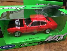 WELLY 24069B 24069R 24069RB FORD CAPRI Mk.I road car blue or red black 1969 1:24