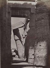 Egypte Karnak Photo Beato Albumine en petit format 9x13cm