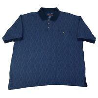 Wrangler Mens XXL 2XL Blue Short Sleeve Western Polo Shirt