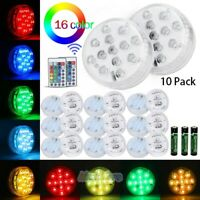 13 LED Submersible Multi Color Waterproof Wedding Party Vase Base Light & Remote