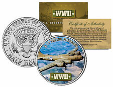 World War II B-17 FLYING FORTRESS Colorized JFK Half Dollar Coin BOEING BOMBER