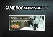 Etiquette Sticker Arrière Castlevania Aria of Sorrow Game Boy Advance SP GBA SP