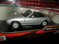 1:24 Motor Max Mazda MX-5 NA Miata silber/silver OVP
