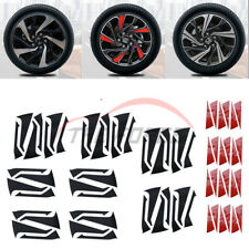 1set 16 inch Wheel Hub Sticker Cover Refit Trim For Honda Civic 2016-2018