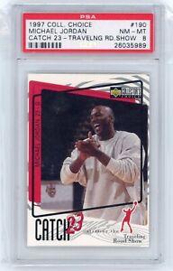 1997-98 Upper Deck Collector's Choice Michael Jordan Catch 23 #190 PSA 8 Graded