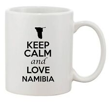 Keep Calm And Love Namibia Africa Country Map Patriotic Ceramic White Coffee Mug