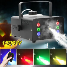1500W Nebelmaschine Effekt 6 RGB LED Smoke Maschine Party Fogger Fernbedienung