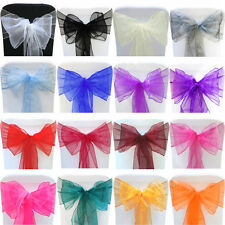 22CM Organza Sashes Chair Cover Fuller Bows Wider Sash Wedding Party Decoration