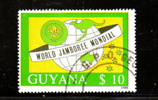 GUYANA #2012  1989  BOY SCOUTS JAMBOREE   MINT  VF NH  O.G    CTO