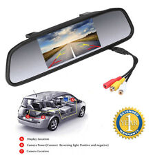KFZ Innenspiegel Auto Rückspiegel Rückfahrkamera LCD Monitor+2 Wege Video Eingan