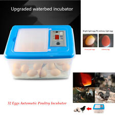 32 Eggs Automatic Poultry Incubator Hatcher Incubation W/Egg Candler Transparent