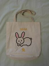 EnviroTote Asian Rabbit Print - Canvas Tote Bag for Shopping & Everyday NEW