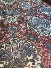 """Croscill Galleria Floral Burgundy,Turquoise,Beige Pole Top Lined 2 Drapes86""""x42"""""""