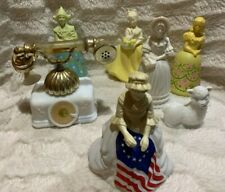 7 - Avon Bottles Cologne Vintage Figurines Collectible Including Betsy Ross