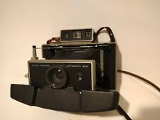 Vintage POLAROID Automatic 100 Land Camera with Leather Strap