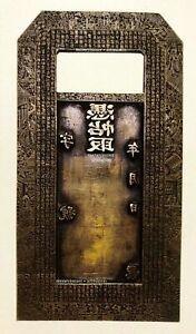 China Antique 1850-1908 Paper Money Bronze Plate, Nice Engrave, Rare.