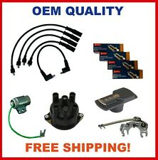 For Nissan Tune Up Kit J15 A15 H20 Clip On Cap Denso W9-Ep + Point Set Condens