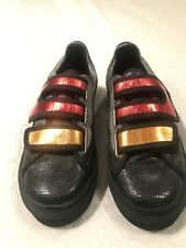 Raf Simons Leather And Foil Sneakers