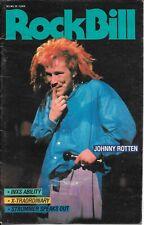 Pil Public Image Limited RockBill John Lydon March 1988 Joe Strummer Inxs