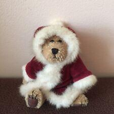 "Boyds Bears Plush Mohair Bear Santa Claus Nicholas Bearington 5"" Tall Christmas"