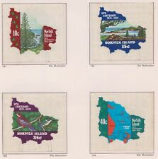 (K55-38) 1974 Norfolk Island 5set UPU centenary 4 stamps CTO& M/S MUH