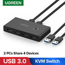UGREEN USB 3.0 Sharing Switch Selector 4 Port 2 PCS Peripheral Switcher Adapter