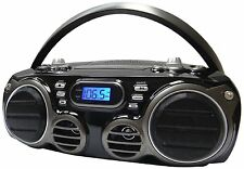 New Sylvania Bluetooth Stereo Boombox Cd Player Usb Charger Amfm Radio Aux Input