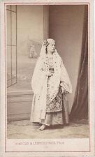 Photo cdv : Maujean ; Femme en habit orientaliste , vers 1870