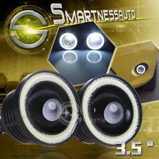 "2PCS 3.5"" LED Fog Projector Light w/White Halo Angel Eye Rings DRL For Dodge  US"