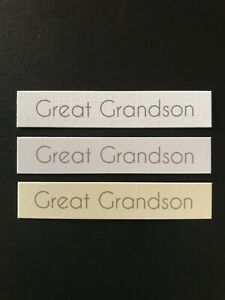 Great Grandson Straight edged banners/card toppers sentiments embellishment pk10