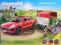 Playmobil 9376 Porsche Macan GTS Pferdeanhänger Pferd Pony Hund Kind Frau NEU