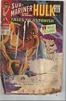 TALES to ASTONISH Hulk & Submariner! Marvel Comic Book Lot of 3! #92,99,100!ASIS