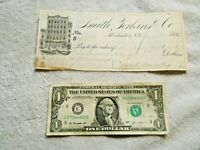 1881 Smith, Perkins & Co. to Beebe & Tillinghast Dry Goods West Valley NY Check