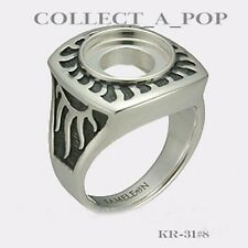 Authentic Kameleon Silver Antiqued Sun Ray Ring Size 6 KR031#6 *Retired*