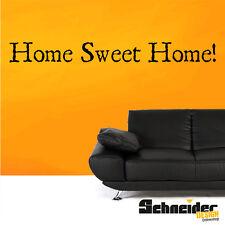 "Wandtattoo ""Home Sweet Home!"" Wandbild Wandaufkleber Wohnzimmer Sticker Wohnung"
