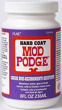 8oz HARD COAT MOD PODGE WATER BASED CLEAR SEALER GLUE & DURABLE FINISH CRAFT