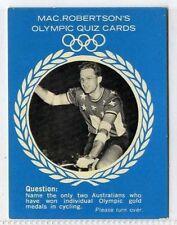(Gm320-100) RARE, MacRobertsons, Russell Mockridge, Olympic Quiz 1964 EX
