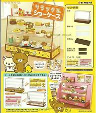 Re-Ment Miniature Rilakkuma Relax Bear Display Cabinet Fridge Showcase Set