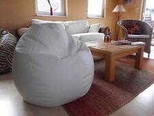"""Sitzsack"""" von Lux """" ca. 370 Liter Lederimitat  weiß / Vintage Lounge Kultsack"""