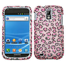 Samsung Galaxy S II 2 T989 T-Mobile - CRYSTAL BLING HARD CASE COVER PINK LEOPARD