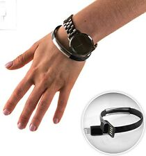 Bracciale USB Lightning Cavo iPad, iPhone, iPod nano 7, Touch 5, Nero