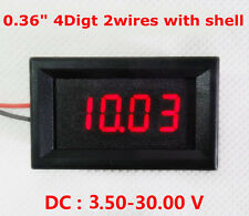 DC 3.50-30V 4 Digital LED Volt Voltage Meter Voltmeter 5v 12V 24V car Battery R