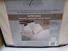 Charisma Super King 400 Hilos 100% Algodón Egipcio Edredón De Marfil