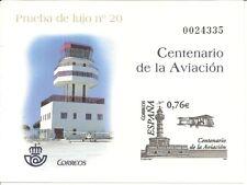 España Prueba de Lujo Edifil 82  Centenario Aviación  2003  NL1436