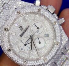 Audemars Piguet Royal Oak Chronograph 41 mm Stainless Steel Watch 2800 Diamonds