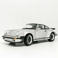 Welly 1:24 1974 Porsche 911 Turbo Silver Diecast Model Racing Car New in Box