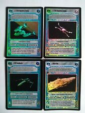 Star Wars ccg 4 M/NM Reflections II foil cards -> Home One, Y-Wing, X-Wing, Z-95