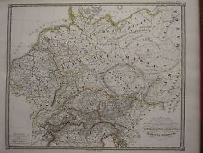 1850 SPRUNER ANTIQUE HISTORICAL MAP ~ GERMANY SWITZERLAND NORICUM NORTH ITALY